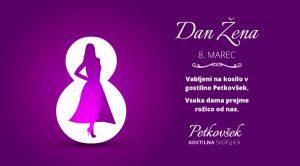 Dan žena, 8. marec - Gostilna Petkovšek